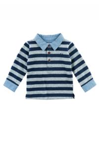 Pullover Ringel Polo Kragen + Manschette Classic Boys