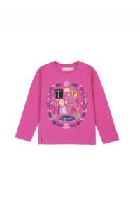 T-Shirt gestrickt elastisch pink maedchen