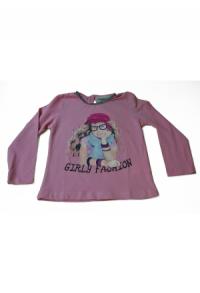 Shirt rosa/grau