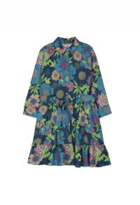 Kleid viskose blumenprint maedchen