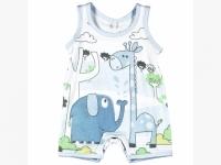 Strampler Boboli Giraffe blau