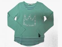 Shirt mint/taupe