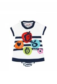 Kleid gestrickt kombiniert fuer baby maedchen225076